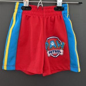Paw patrol red & blue athletic shorts